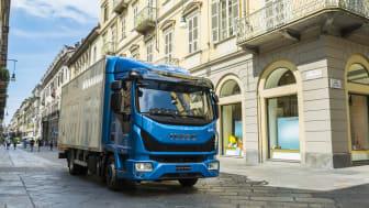 "Iveco Eurocargo, som blevet kåret som ""International Truck of the Year 2016"", vises frem somCNG drevet model, på det første roadshow i HI-Park, Herning, mandag d. 9. maj."