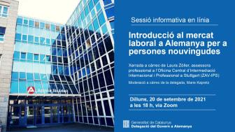 Recordatori. Sessió informativa: Introducció al mercat laboral a Alemanya