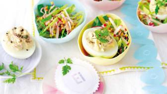 Ägg på sallad