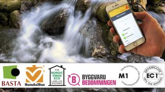 Sika MiljöApp – Uppdaterad version med över 1 500 miljöbedömda artiklar