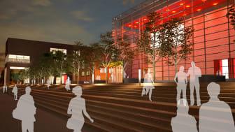 Arkitektförslag till nybyggnad för Kungl. Musikhögskolan (KMH)