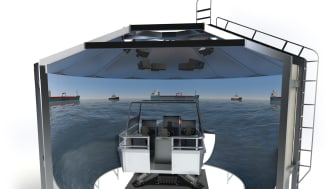 The new K-Sim Tactical Boat Handling and Firing Simulator will support in effectively and realistically training crew on boat handling and fast interception operations, together with weapon engagements