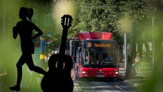 Späckad evenemangshelg påverkar innerstadsbussarna