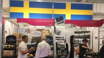 Foto från svenska paviljongen på Speciality & Fine Food Fair 2016.
