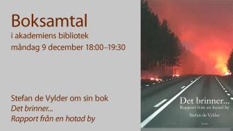 2019-12-09 Boksamtal: Det brinner... Rapport från en hotad by