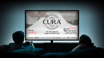 Premiär för CURA of Swedens reklamfilmer på TV3, Kanal 5 och i en rad olika playkanaler.