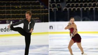 Alexander Majorov och Anita Östlund under VM i konståkning i Milano.