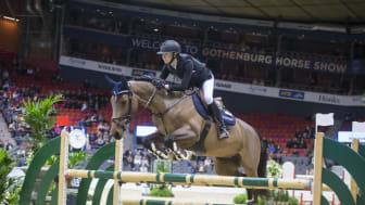Stina Efraimsson och Dana trea i Morgondagens Vinnare. Foto: Roland Thunholm