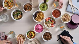 Duni lanserar Coppa- Färgstarkt miljökoncept med take-away skålar