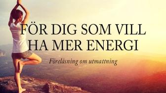 Föreläsning om utmattning i Stockholm (öppen för allmänheten)