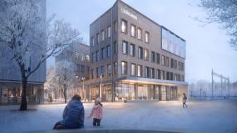 Medborgarhuset sett från det Stationsstadens nya torg