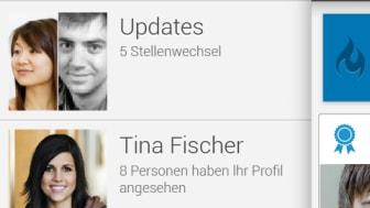 Screenshot LinkedIn Android Nav