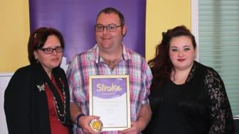 Young stroke survivor receives regional recognition