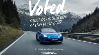 Alpine A110 - vackraste bilen 2017