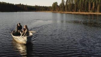 Susanne och Stig i båten på Ore älv 2