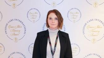 Studenten Maria Larsson har fått Queen Silvia Nursing Award 2019.