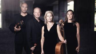 Geflekvartetten fr.v: Josef Cabrales Alin, violin, Dag Björkling, violin, Katarina Lysell, cello, Helena Wahlund, viola