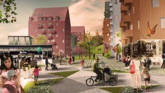 Titania vinner markanvisningstävling för 450 lägenheter i Botkyrka kommun!