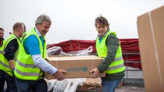 Norwegian's CEO Bjorn Kjos and UNICEF's Secretaty General Bernt G. Apeland