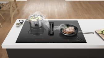 Bosch presenterar nya induktionshällar med inbyggd köksfläkt, nu i ännu fler modellserier
