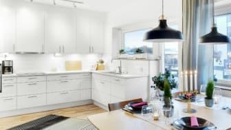 En bild från visningslägenheten i Bonum Brf Cavallo i Kalmar.