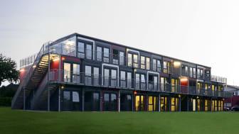 Algeco präsentiert auf der Expo Real intelligente Raumlösungen zum Wohnen, Lernen oder Arbeiten und lädt zu einer virtuellen Objektbegehung . Foto: Algeco / freier Architekt BDA Jens J. Ternes, Koblenz. Website: www.ternesarchitekten.de