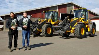 Granngårdarna beställde likadana Volvo hjullastare till lantbruket