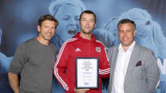 Niko Vähätalo, Kiruna FF. Här tillsammans med Jesper Blomqvist och Mikael Tykesson.