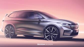 ŠKODA afslører designtegninger af ENYAQ iV