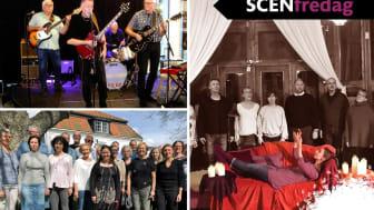 Blueskapellet, Roslagens Vokalensemble och Cantaton är några av gästerna på Scenfredag i vår.