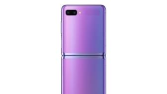 Samsung Galaxy Z Flip_open back_purple mirror