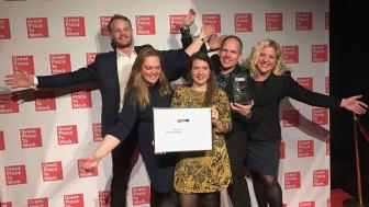 Nordic Choice Hotels utsedda till en av Sveriges bästa arbetsplatser