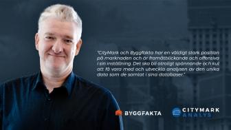 Byggfaktas och CityMark Analys nye analyschef, Tor Borg.