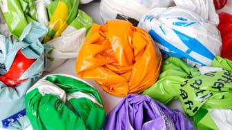 Återvunnen plast används i liten omfattning i förpackningar