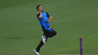 Ed Barnard in action for Worcestershire Rapids during the Royal London One-Day Cup