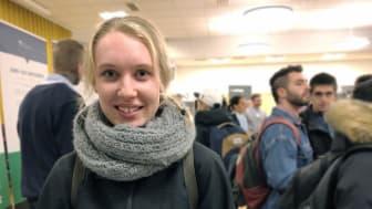 Ella Arwesved, som studerar till produktionsingenjör. Foto: Högskolan i Skövde