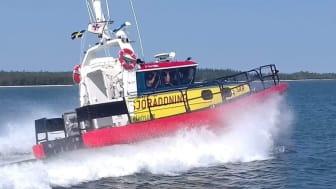 RS Fårösund arbetade hårt under kappseglingen Gotland Runt i somras