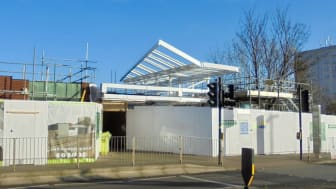 Work is ongoing at Longbridge station