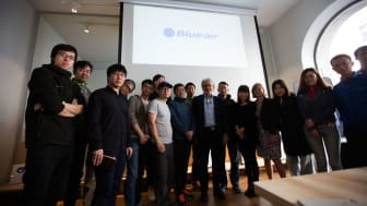 Chinese journalists discover more about Blueair during an early May visit to Blueair's corporate head office in Stockholm, the Swedish capital.