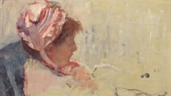 Mary Cassatt, porträtt av konstnärens syster Lydia. Förstudie till The Cup of Tea. Foto: Studio Sebert and Beaussant Lefevre.