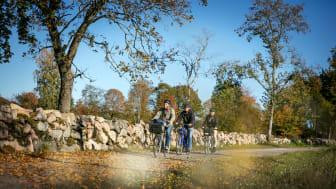 Kulturcykla mellan Skövde och Varnhem är ett av tipsen från Skövde i Visit Swedens nya upplevelseguide. Foto: Tobias Andersson/Next Skövde