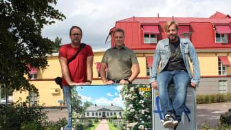 Tre av vinnarna i fototävlingen: Håkan Ringius, Christer Fredriksson och Mattis Bergfur.