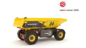 Den autonoma eldrivna dumpern TA15 vinner en Red Dot Award för produktdesign.