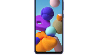 Galaxy A21s_Blue_Front