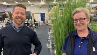 District Manager Thomas Nilsson (t.v.) og Store Manager Sissel Sandstad (t.h.)