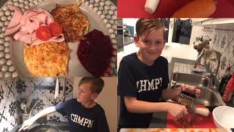 Morgan Andersson Södervångsskolan lagade grymt goda och nyttiga rotsaksbiffar