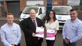 Pictured is Councillor Gregg McKeen, Chair of Borough Growth and Barbara Orr, of Mid and East Antrim Borough Council with FCS Ltd.