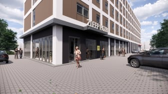 Zleep Hotel Glostrup (Skitse: Jodan Rådgivning)