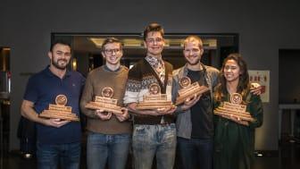 Fra venstre: Simo Kristidhi, Tore Øverleir, Anton Söderman, Tom Kuyken og Nikita Michelle Sarino