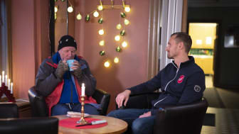 I julkampanjen lyfter Frälsningsarmén situationen för personer i hemlöshet, barnfamiljer i utsatthet och ensamheten främst bland äldre. Foto: Jonas Nimmersjö